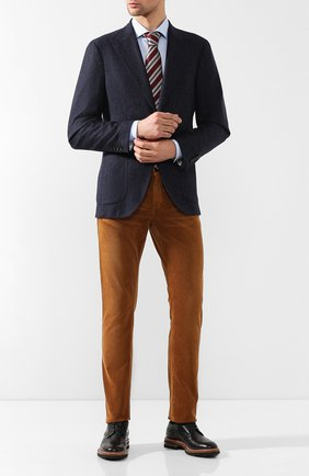 Мужской однобортный пиджак из кашемира LORO PIANA темно-синего цвета, арт. FAI2628 | Фото 2
