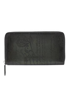 Мужской кожаное портмоне на молнии BERLUTI зеленого цвета, арт. N166276 | Фото 1