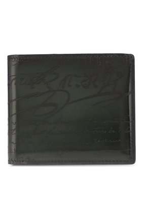 Мужской кожаное портмоне с отделениями для кредитных карт BERLUTI зеленого цвета, арт. N166280 | Фото 1