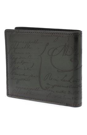 Мужской кожаное портмоне с отделениями для кредитных карт BERLUTI зеленого цвета, арт. N166280 | Фото 2
