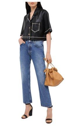 Женские кожаные босоножки versilia GIANVITO ROSSI черного цвета, арт. G60379.00RIC.NAPNER0   Фото 2