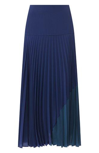Плиссированная юбка из шелка