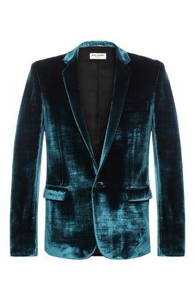 Однобортный пиджак из смеси вискозы и хлопка   Фото №1