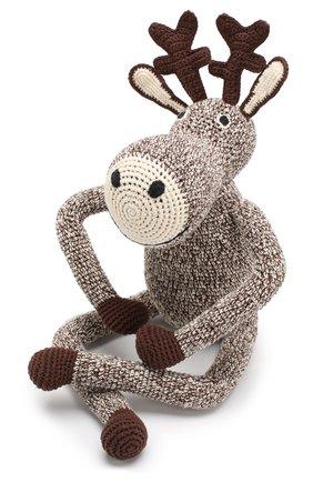 Детского хлопковая игрушка ANNE-CLAIRE PETIT коричневого цвета, арт. 300-058-070 | Фото 2