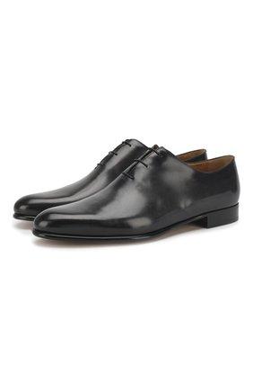 Мужские кожаные оксфорды BERLUTI черного цвета, арт. S4505-002 | Фото 1