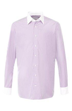 Мужская хлопковая рубашка с воротником кент ZILLI фиолетового цвета, арт. MFQ-MERCU-12401/RZ01 | Фото 1