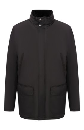 Мужская утепленная куртка на молнии с капюшоном ANDREA CAMPAGNA черного цвета, арт. 20501H9665010   Фото 1