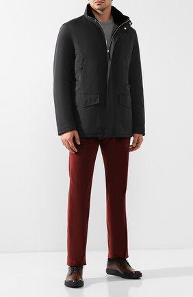 Мужская утепленная куртка на молнии с капюшоном ANDREA CAMPAGNA черного цвета, арт. 20501H9665010   Фото 2