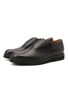 Мужские кожаные оксфорды BERLUTI серого цвета, арт. S4161-001 | Фото 1