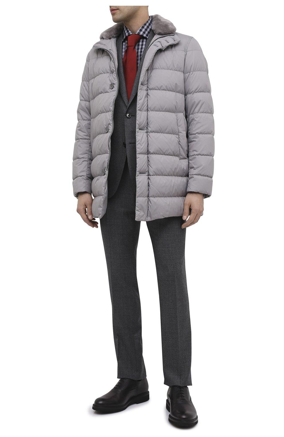 Мужские кожаные оксфорды BERLUTI серого цвета, арт. S4161-001 | Фото 2 (Материал внешний: Кожа; Материал внутренний: Натуральная кожа; Стили: Классический; Статус проверки: Проверено, Проверена категория)
