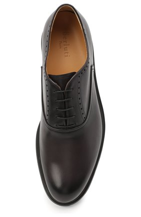 Мужские кожаные оксфорды BERLUTI серого цвета, арт. S4161-001 | Фото 5 (Материал внешний: Кожа; Материал внутренний: Натуральная кожа; Стили: Классический; Статус проверки: Проверено, Проверена категория)