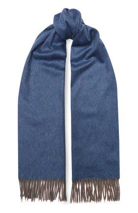 Мужской кашемировый шарф ANDREA CAMPAGNA синего цвета, арт. 840MI/SCARF | Фото 1
