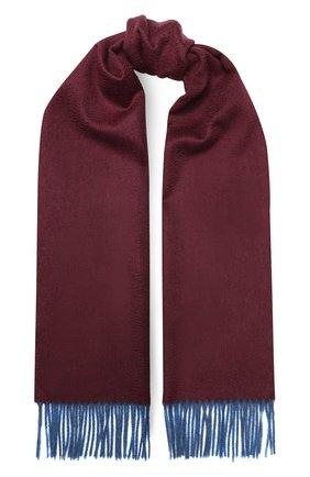 Мужской кашемировый шарф ANDREA CAMPAGNA бордового цвета, арт. 840MI/SCARF | Фото 1