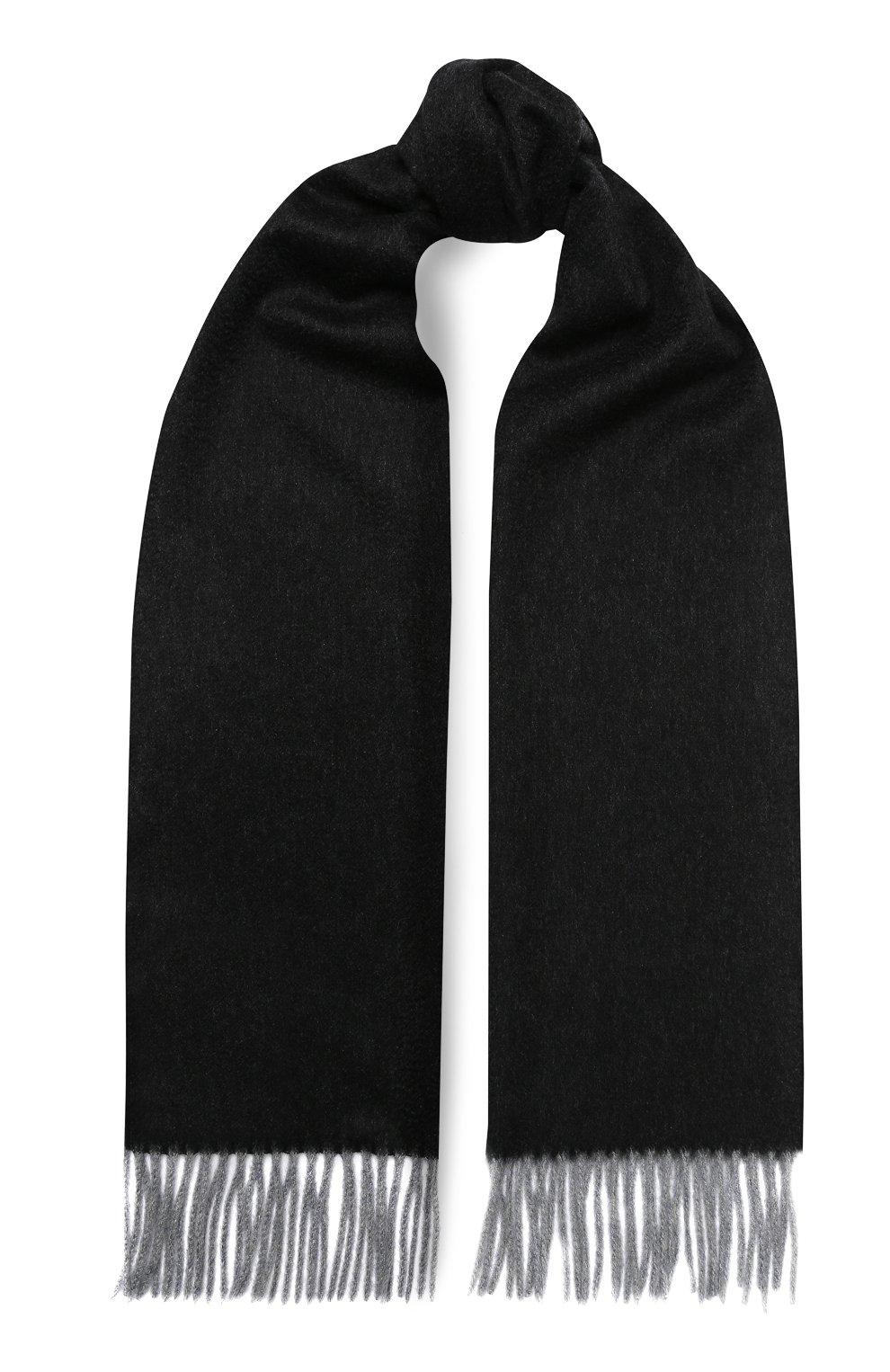 Мужской кашемировый шарф ANDREA CAMPAGNA темно-серого цвета, арт. 840MI/SCARF | Фото 1