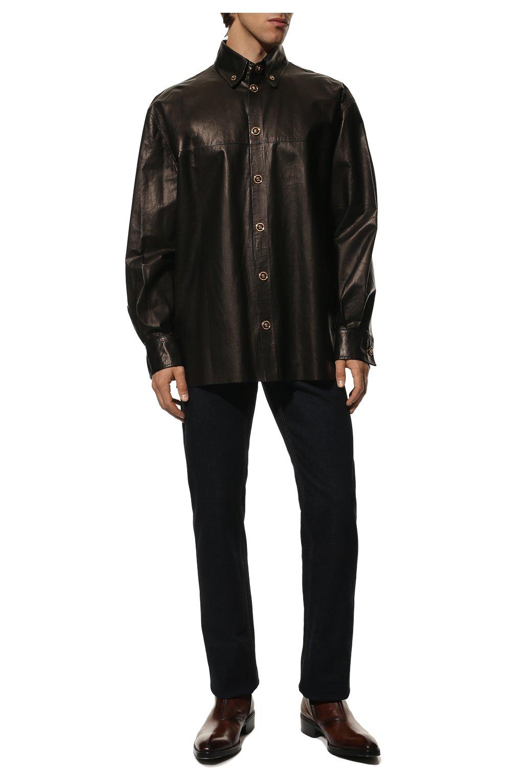 Мужские кожаные сапоги на молнии BERLUTI темно-коричневого цвета, арт. S4619-001 | Фото 2 (Статус проверки: Проверено, Проверена категория; Подошва: Плоская; Мужское Кросс-КТ: Сапоги-обувь)