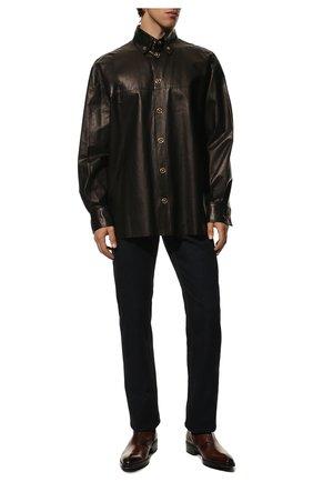Мужские кожаные сапоги на молнии BERLUTI темно-коричневого цвета, арт. S4619-001 | Фото 2