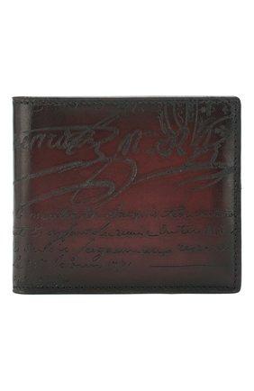 Мужской кожаное портмоне с отделениями для кредитных карт BERLUTI бордового цвета, арт. N166281 | Фото 1