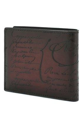 Мужской кожаное портмоне с отделениями для кредитных карт BERLUTI бордового цвета, арт. N166281 | Фото 2