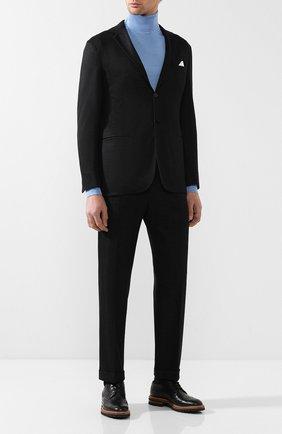 Мужской кашемировый костюм с пиджаком на двух пуговицах KNT темно-серого цвета, арт. UAS01K01R75 | Фото 1
