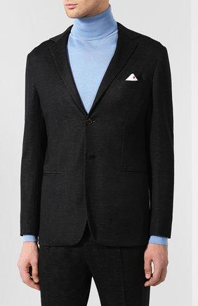 Мужской кашемировый костюм с пиджаком на двух пуговицах KNT темно-серого цвета, арт. UAS01K01R75 | Фото 2