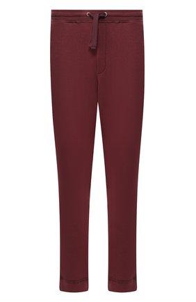 Мужской хлопковые джоггеры VALENTINO бордового цвета, арт. RV3MD00YWGP | Фото 1
