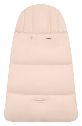 Детский утепленный конверт MONCLER ENFANT светло-розового цвета, арт. D2-951-00828-05-53079 | Фото 2