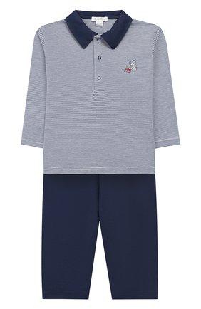 Комплект из хлопкового лонгслива и брюк   Фото №1