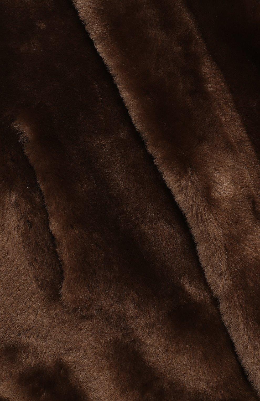 Детская двусторонняя дубленка с капюшоном LORO PIANA коричневого цвета, арт. FAI4119 | Фото 5