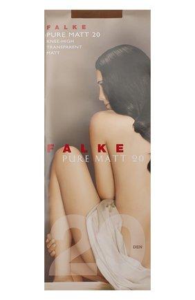 Женские капроновые гольфы pure matt FALKE светло-бежевого цвета, арт. 41712_ | Фото 1