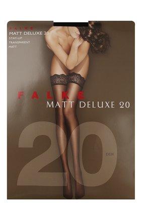 Женские капроновые чулки matt deluxe FALKE черного цвета, арт. 41520_ | Фото 1
