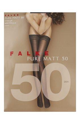 Женские капроновые чулки pure matt FALKE черного цвета, арт. 41551_ | Фото 1