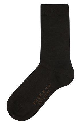 Женские носки softmerino из смеси шерсти и хлопка FALKE коричневого цвета, арт. 47488_ | Фото 1