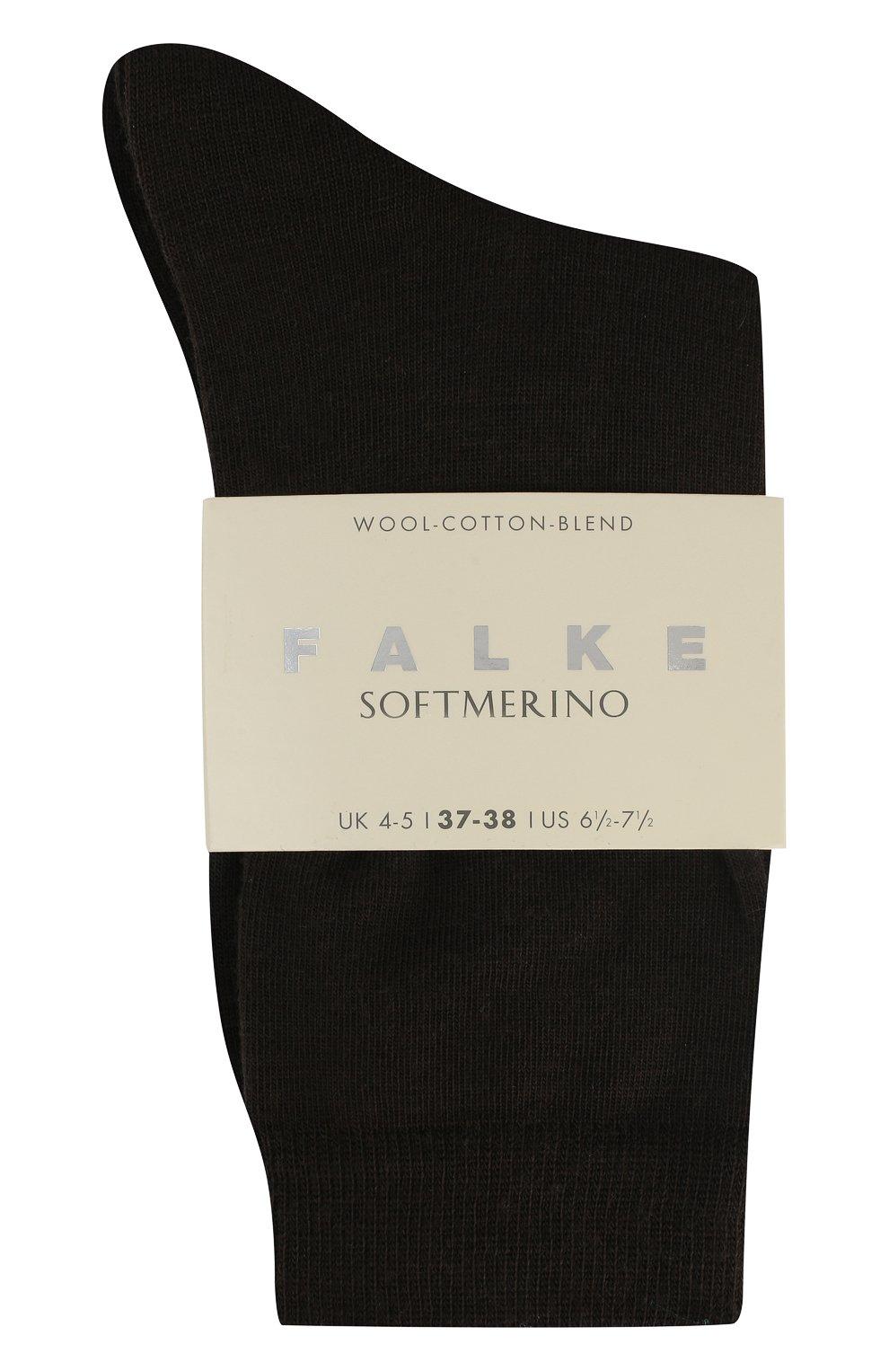 Женские носки softmerino из смеси шерсти и хлопка FALKE коричневого цвета, арт. 47488_ | Фото 2