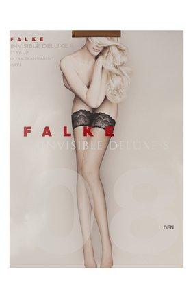 Женские капроновые чулки invisible deluxe FALKE кремвого цвета, арт. 41560_ | Фото 1