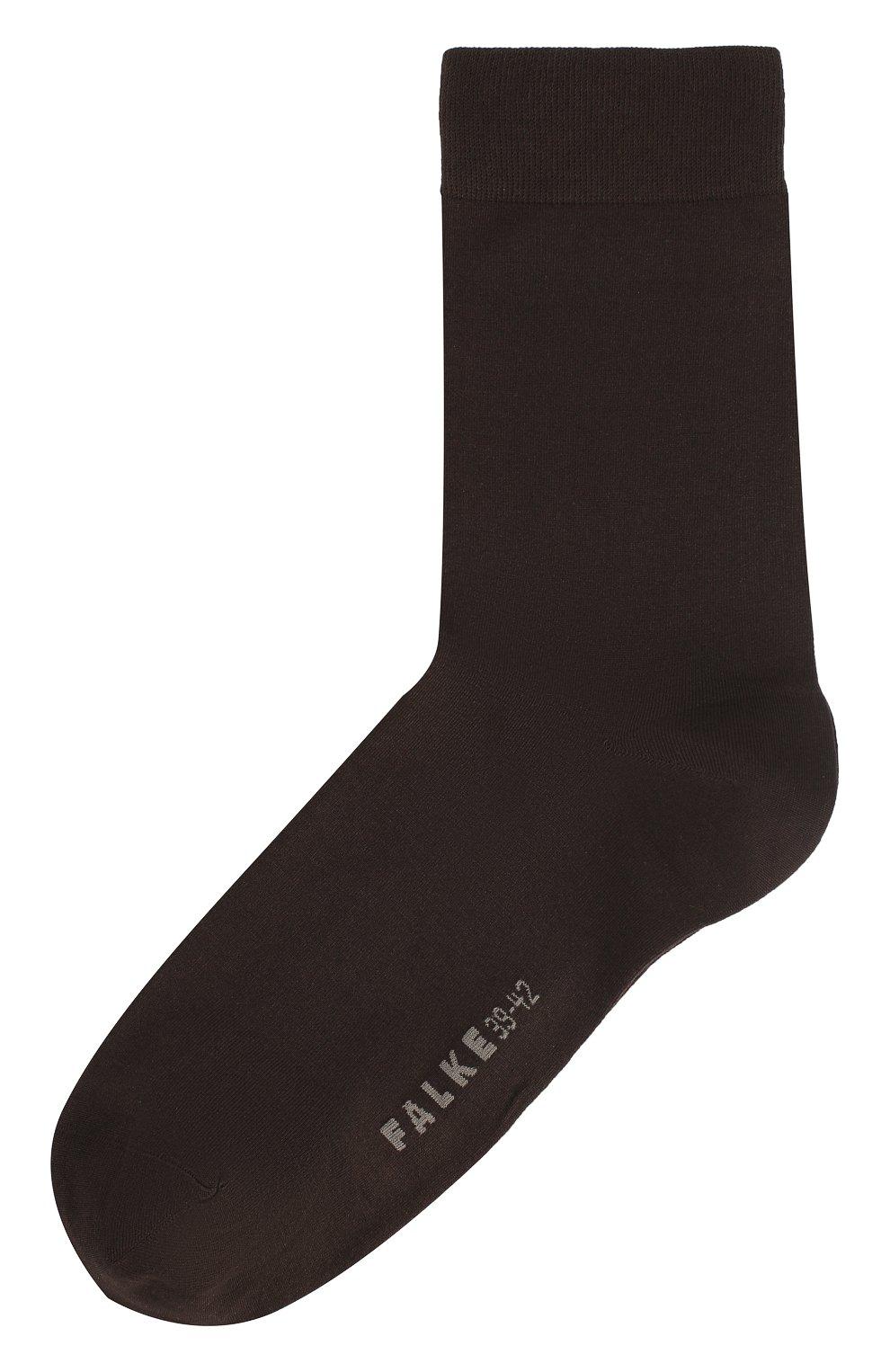 Женские хлопковые носки cotton touch FALKE коричневого цвета, арт. 47673_   Фото 1