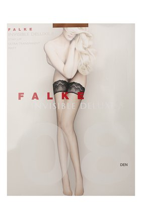 Женские капроновые чулки invisible deluxe FALKE темно-бежевого цвета, арт. 41560_ | Фото 1