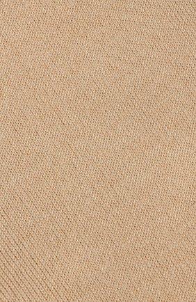 Женские носки sensual silk из смеси хлопка и шелка FALKE бежевого цвета, арт. 46288_ | Фото 3