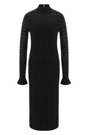 Шерстяное платье-миди с воротником-стойкой | Фото №1