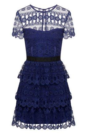 Кружевное платье с круглым вырезом | Фото №1