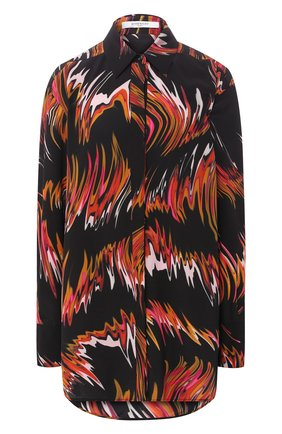Шелковая блузка с принтом   Фото №1
