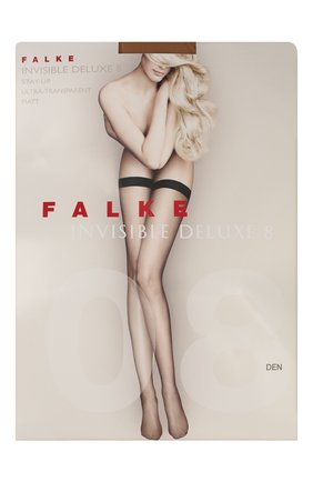 Женские капроновые чулки invisible deluxe FALKE темно-бежевого цвета, арт. 41561_ | Фото 1