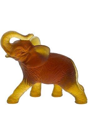 Мужского скульптура elephant DAUM коричневого цвета, арт. 03917 | Фото 1