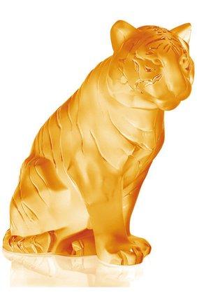 Мужского скульптура tiger LALIQUE желтого цвета, арт. 10063100 | Фото 1