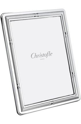 Мужская рамка для фотографии rubans CHRISTOFLE серебряного цвета, арт. 04256780 | Фото 1