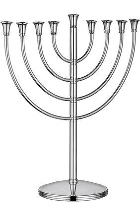 Подсвечник на 9 свечей judaique CHRISTOFLE серебряного цвета, арт. 03554320 | Фото 1 (Статус проверки: Проверена категория; Ограничения доставки: fragile-2)