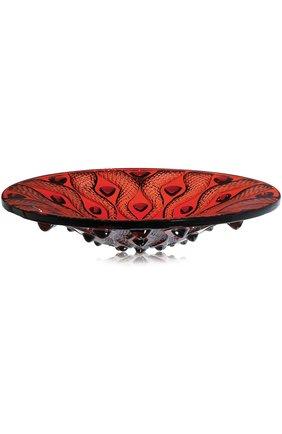Мужского ваза для фруктов serpentine LALIQUE красного цвета, арт. 1112010 | Фото 1