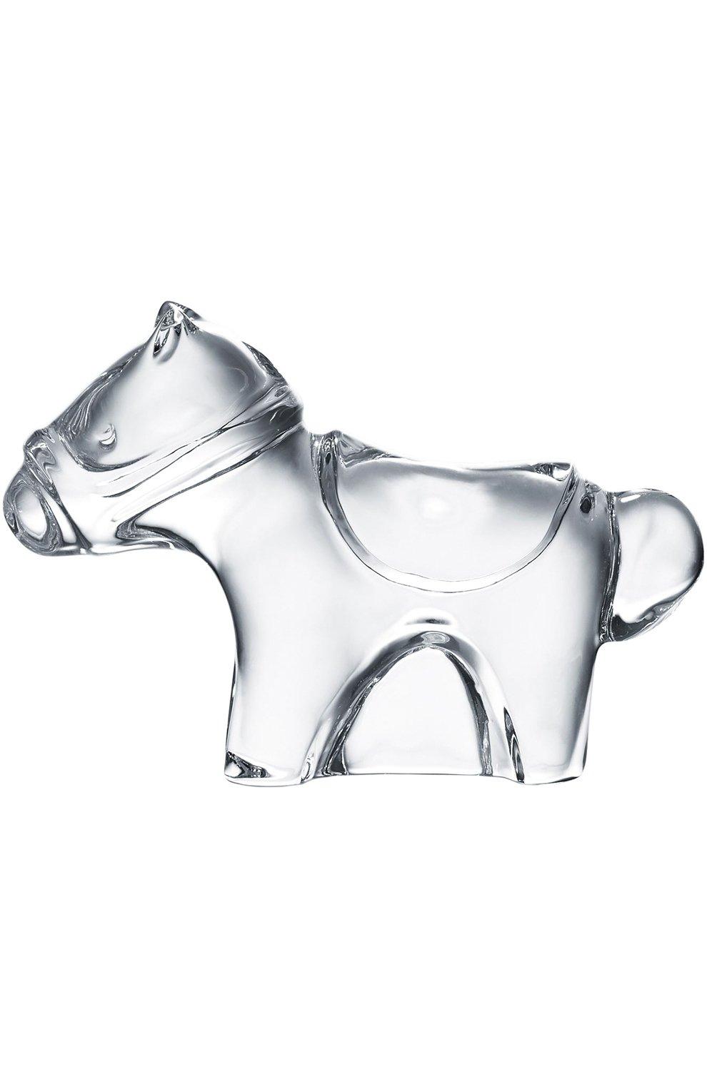 Мужского скульптура minimals cheval BACCARAT прозрачного цвета, арт. 2 802 122   Фото 1