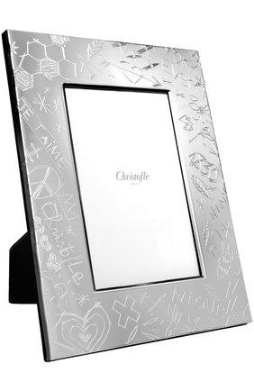 Мужская рамка для фотографии graffiti CHRISTOFLE серебряного цвета, арт. 04256091 | Фото 1