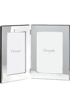 Мужская рамка для фотографии fidelio CHRISTOFLE серебряного цвета, арт. 04256014 | Фото 1