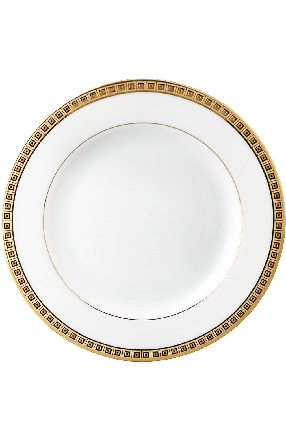Мужского тарелка для хлеба и масла athena gold BERNARDAUD белого цвета, арт. 0467/3 | Фото 1